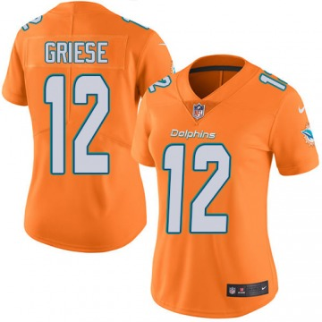 Women's Miami Dolphins Bob Griese Orange Limited Color Rush Jersey By Nike