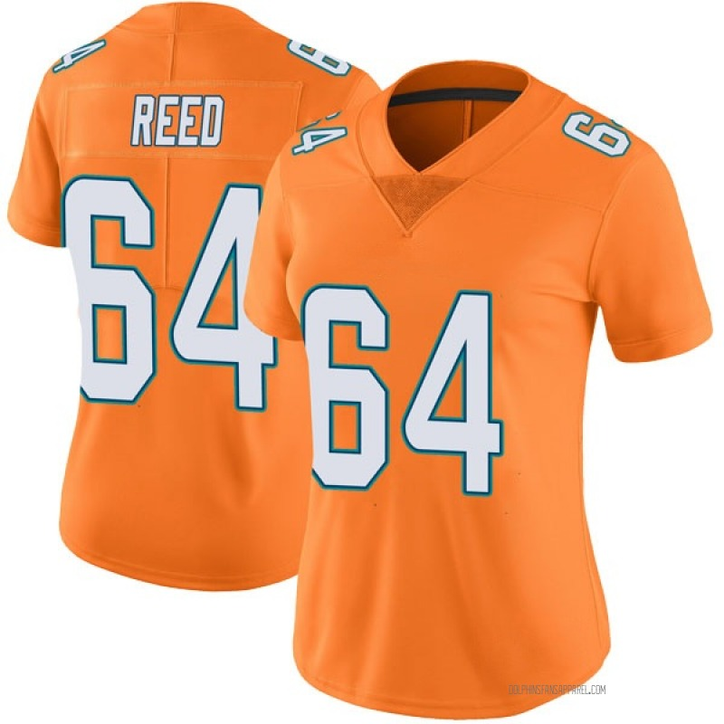 Women's Miami Dolphins Chris Reed Orange Limited Color Rush Jersey By Nike