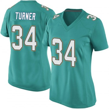 Women's Miami Dolphins De'Lance Turner Aqua Game Team Color Jersey By Nike