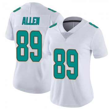 Women's Miami Dolphins Dwayne Allen White limited Vapor Untouchable Jersey By Nike