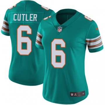 Women's Miami Dolphins Jay Cutler Green Limited Aqua Alternate Vapor Untouchable Player Jersey By Nike