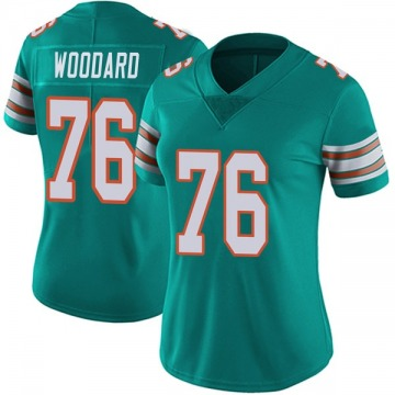 Women's Miami Dolphins Jonathan Woodard Aqua Limited Alternate Vapor Untouchable Jersey By Nike