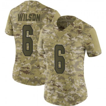 Women's Miami Dolphins Stone Wilson Camo Limited 2018 Salute to Service Jersey By Nike