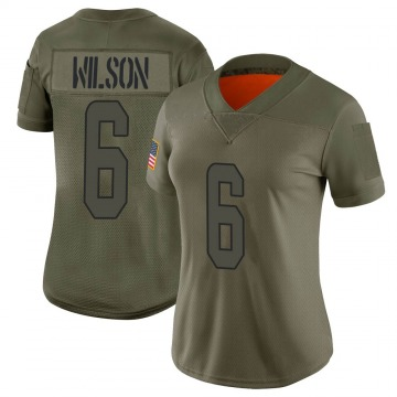 Women's Miami Dolphins Stone Wilson Camo Limited 2019 Salute to Service Jersey By Nike