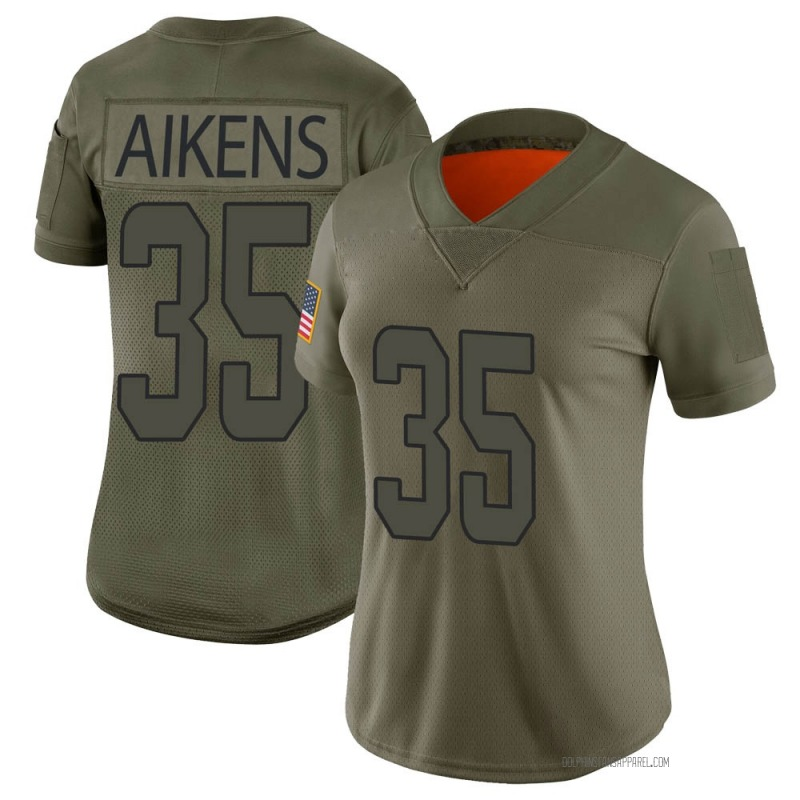 Women's Miami Dolphins Walt Aikens Camo Limited 2019 Salute to Service Jersey By Nike