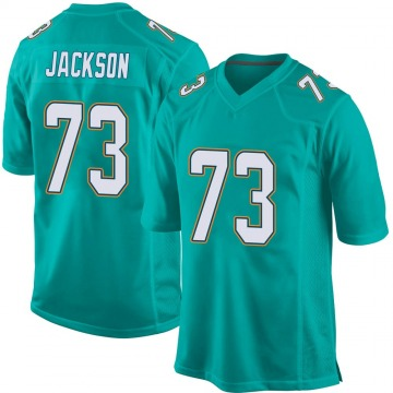Youth Miami Dolphins Austin Jackson Aqua Game Team Color Jersey By Nike