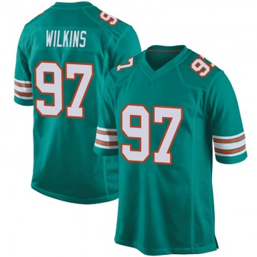 Youth Miami Dolphins Christian Wilkins Aqua Game Alternate Jersey By Nike