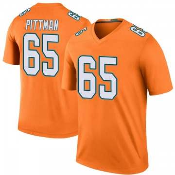Youth Miami Dolphins Jamiyus Pittman Orange Legend Color Rush Jersey By Nike