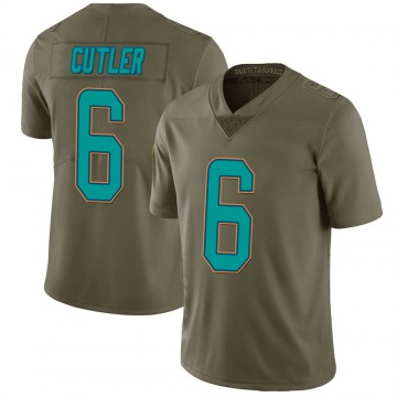Youth Miami Dolphins Jay Cutler Green Limited 2017 Salute to Service Jersey By Nike