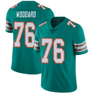 Youth Miami Dolphins Jonathan Woodard Aqua Limited Alternate Vapor Untouchable Jersey By Nike