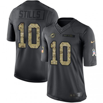 Youth Miami Dolphins Kenny Stills Black Limited 2016 Salute to Service Jersey By Nike