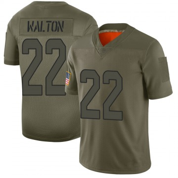 Youth Miami Dolphins Mark Walton Camo Limited 2019 Salute to Service Jersey By Nike