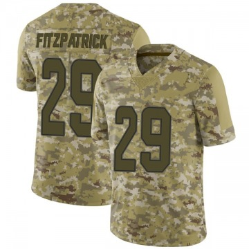 Youth Miami Dolphins Minkah Fitzpatrick Camo Limited 2018 Salute to Service Jersey By Nike