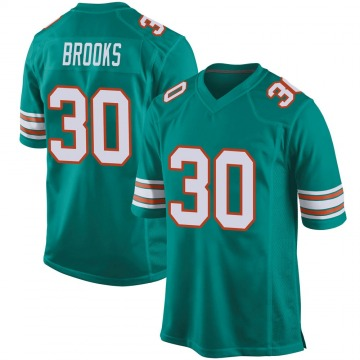 Youth Miami Dolphins Nate Brooks Aqua Game Alternate Jersey By Nike