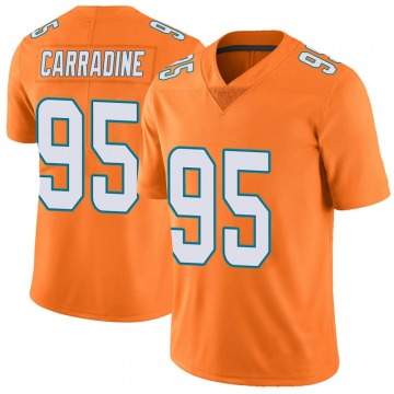 Youth Miami Dolphins Tank Carradine Orange Limited Color Rush Jersey By Nike