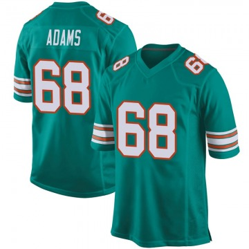 Youth Miami Dolphins Tony Adams Aqua Game Alternate Jersey By Nike