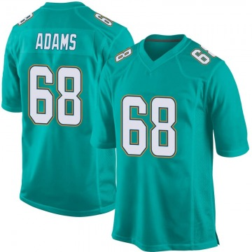 Youth Miami Dolphins Tony Adams Aqua Game Team Color Jersey By Nike