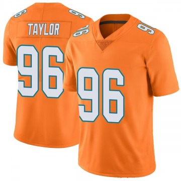 Youth Miami Dolphins Vincent Taylor Orange Limited Color Rush Jersey By Nike